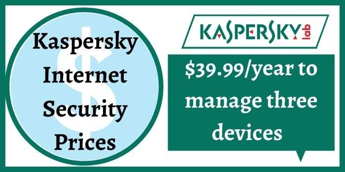 Kaspersky Internet Security Prices
