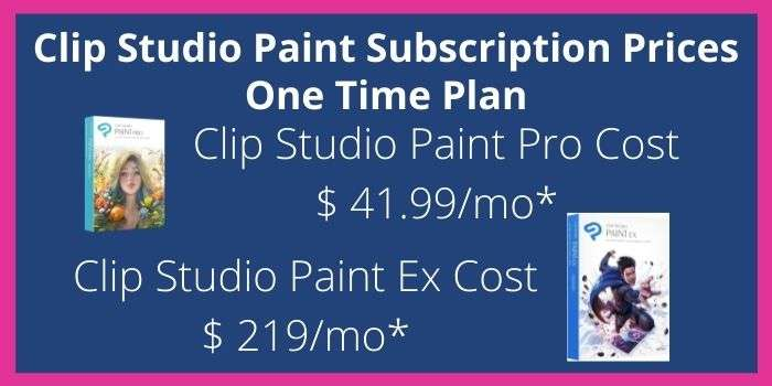Clip Studio Paint One Time Purchase