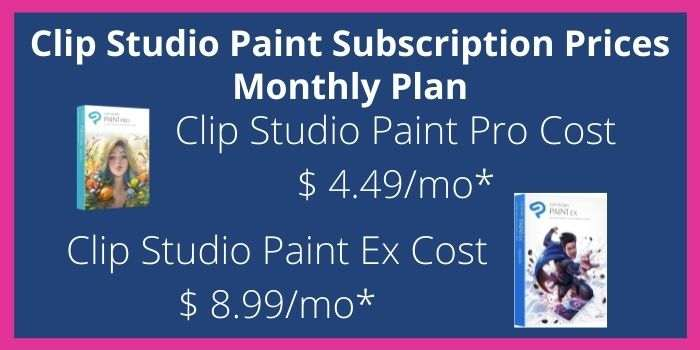 Clip Studio Paint Monthly Plan